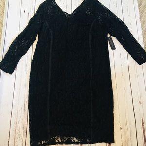*NEW* LANE BRYANT SIZE 24 BLACK LACE DRESS